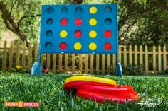 Upgrade the classic connect four game with @kennethwingard's #DIY Giant Connect Four game! Don't miss any great DIYs by watching Home & Family weekdays on Hallmark Channel at 10a/9c!