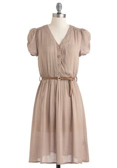 Take to the Wind Dress.  This reminds me of Katniss' dress at the picking of the tributes, except in tan instead of blue.