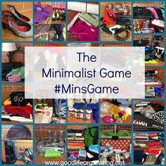 Play the minimalist game #minimalism | GoodLifeOrganizing.net