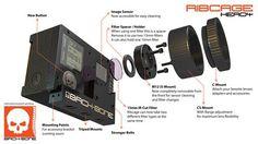 Kit de modification Back-Bone Ribcage pour caméra GoPro Hero4 Black et Silver 03