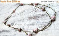 Hey, I found this really awesome Etsy listing at https://www.etsy.com/listing/234939419/sale-long-paper-bead-necklace-green