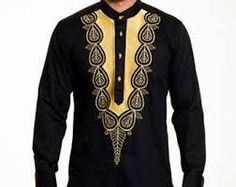 african mens wear with embroidery, embroided mens african clothing, mens african wear, mens caftan,m African Shirts For Men, African Clothing For Men, African Print Fashion, African Attire, African Wear, African Dress, African Style, Mens Traditional Wear, Men Dress