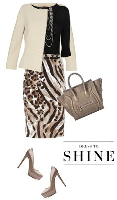 "Modest Church Outfit. Modern and Classy Woman. ""Skirt by MAXMARA"" by fashionmonkey1 on Polyvore"