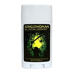 Junglewoman All-Natural Deodorant: 100% All-Natural, hypoallergenic, and contains only 4 ingredients. aluminumfree