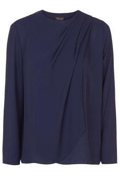 Draped Shoulder Top - Topshop