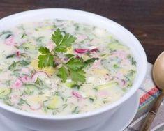 Soupe froide minceur de concombre et radis au yaourt bulgare Healthy Detox, Cooking Light, Food Design, Cooking Time, Summer Recipes, Entrees, Potato Salad, Nom Nom, Tasty