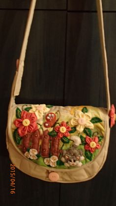 """a kitty in the garden"" - a kid's bag by Alina Wodzińska"