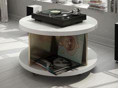 Meuble vinyles. Mod. MONTAND Fibre, Nightstand, Furniture, Home Decor, Vinyl Records, Bedside Desk, Night Stands, Interior Design, Home Interior Design