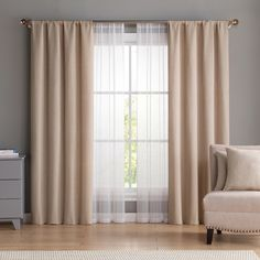 Vcny Home Diana Curtain & Throw Pillow Set, White Living Room Decor Curtains, Home Curtains, Living Room Windows, Panel Curtains, Bedroom Decor, Curtain Panels, Sheer Curtains, Curtain Designs, Throw Pillow Sets