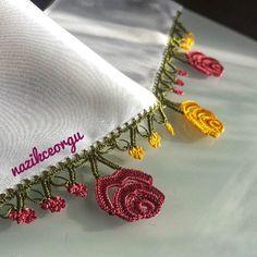 Fotoğraf açıklaması yok. Crochet Edging Patterns, Baby Knitting Patterns, Crochet Stitches, Crochet Baby, Knit Crochet, Needle Lace, Cloth Bags, Shape Patterns, Crochet Flowers