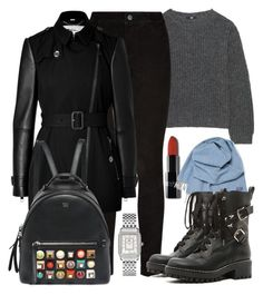 Sem título #4758 by beatrizvilar on Polyvore featuring Uniqlo, Burberry, Paige Denim, RED Valentino, Fendi, Michele and Faribault Woolen Mill Co.