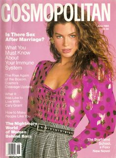 Cosmopolitan Vtg Fashion Magazine June 1989 - Carre Otis Cover - No Label - NM V Magazine, Fashion Magazine Cover, Fashion Cover, 80s Fashion, Magazine Covers, Fasion, Natalia Vodianova, Old Magazines, Vintage Magazines