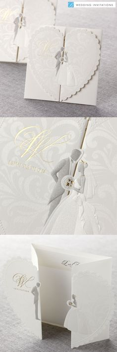 Embossed Wedding Couple by B Wedding Invitations #weddinginvitations #wedding #invitations