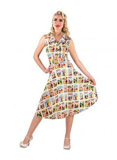'Oooh I say!' Naughty 1950's Seaside Postcard 'Flared' Vintage Dress