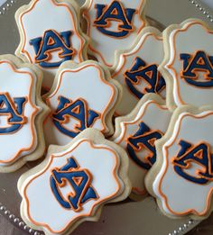 Auburn University sugar cookies, YUM! ~ Check this out too ~ RollTideWarEagle.com for sports stories that inform and entertain. #Auburn