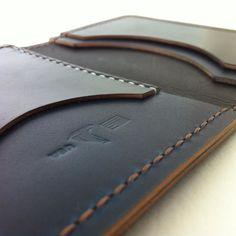 Blue Shell Cordovan Pocket Wallet - jmichaelashland.com. #leatherwallet # bespoke #menstyle