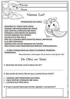 Texto e Interpretação Porquinho - da índia Manuel Bandeira