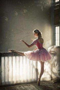 bailarina ensayando