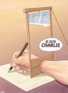 Artists Around the World Respond to the Charlie Hebdo Attack in the Best Way Possible «TwistedSifter  Luis Quiles