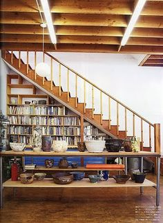 1000 images about stairs on pinterest love articles chicago and screens - Staircases with integrated bookshelves ...