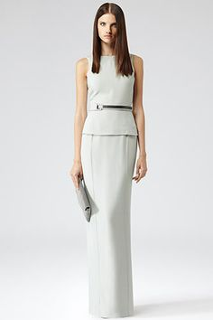e9900e90ef8f Reiss Crepe Open Back Column Dress