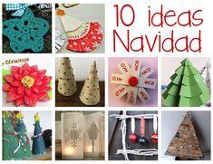 Manualidades fáciles de Navidad: 10 ideas para la decoración navideña: Durante toda la semana he estado preparandola decoración navideña con papel para este año, pero ...