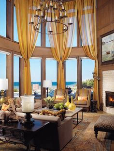 Marc-Michaels Interior Design, Inc., Winter Park, FL.  Coastal Living Room