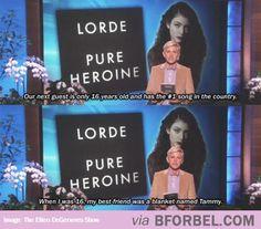 Ellen Comparing Herself To Lorde…