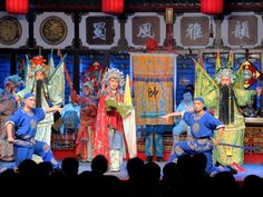 Sichuan opera is a tradition portraying local legends. Percussion and wind instruments accompany the high pitched singing. Performances are staged nightly at the Shufengya Yun Teahouse in Chengdu, China. Local Legends, Chengdu, Percussion, Opera, Singing, Instruments, China, Traditional, Tools
