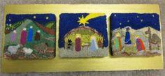 Nativity - punchneedle