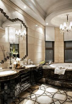 Luxury Bathroom Design And Decorating Ideas You Will Amazed Apartment Bathroom Design, Bathroom Design Luxury, Dream Bathrooms, Beautiful Bathrooms, Luxurious Bathrooms, Master Bathrooms, Marble Bathrooms, Master Bedroom, Style At Home