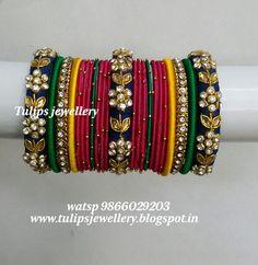 We aim to provide Unique Designed Handcrafted silk thread Jewellery Silk Thread Bangles Design, Silk Bangles, Bridal Bangles, Silver Bangle Bracelets, Bangle Set, Bridal Jewelry, Healing Bracelets, Indian Jewelry Sets, Indian Wedding Jewelry