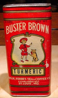 Rare Vintage Spice Tins   RARE Antique Buster Brownturmeric Pure Spice Tin 1800'S   eBay