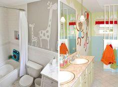 Confira 6 ideias de #decoração que vão deixar o banheiro das crianças divertido e charmoso: http://bbel.me/1mO0suf.