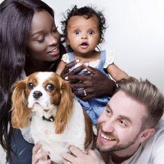Louis the dog, Daddy Jaime, baby Ava, Mommy Nikki.