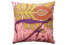 ONE KINGS LANE: Elements Fire 20x20 Pillow, Pink/Multi