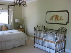 Like the monogram in painted frame idea