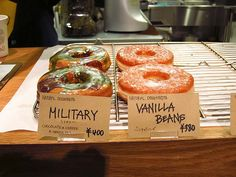 military colored donuts @ streamer coffee