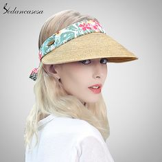 sun visor hat female summer sun hats for women beach hat holiday outdoor Cycling cap girls straw Hat fashion SL00020