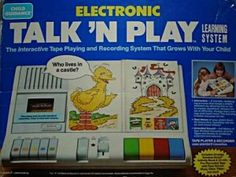 Sesame Street Talk 'N Play. My little sister destroyed mine which I say I'm over now that it's been a good 24 years but obviously I'm still a little sad. This thing was awesome. Childhood Toys, Childhood Memories, Sweet Memories, Child Guidance, Old School Toys, 80s Kids, Oldies But Goodies, Old Toys, Children's Toys