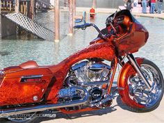Harley Davidson Road Glide Custom Bagger with tons of Chrome