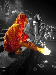 Offering at the Ganges