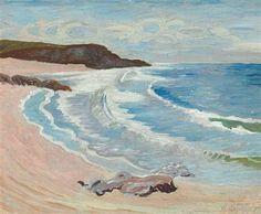 Jens Ferdinand Willumsen 1863-1958 Coastal scene from Le Pouldu.Brittany hst 26x32