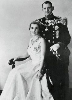 King Frederick and Queen Ingrid of Denmark on 11 Mar 1948