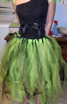 Our DIY Tutu skirt for my daughter's fairy costume - followed the tutorial for a tutu dress