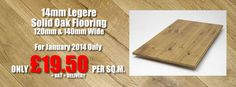January 2014 Special Offer: 14mm Legere Solid Oak Flooring