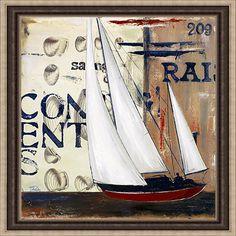 Artist: Patricia Pinto, Title: Blue Sailing Race II