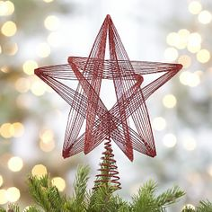 Glitter Wire star tree topper for christmas