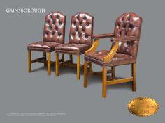 Silla de comedor Gainsborough desde $663 #Silla #chester #chesterfield #ingles #vintage #marron #envejecido