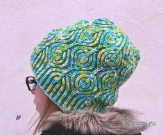 "Hat ""leaves"" from Raina Kruus in technology brioche"